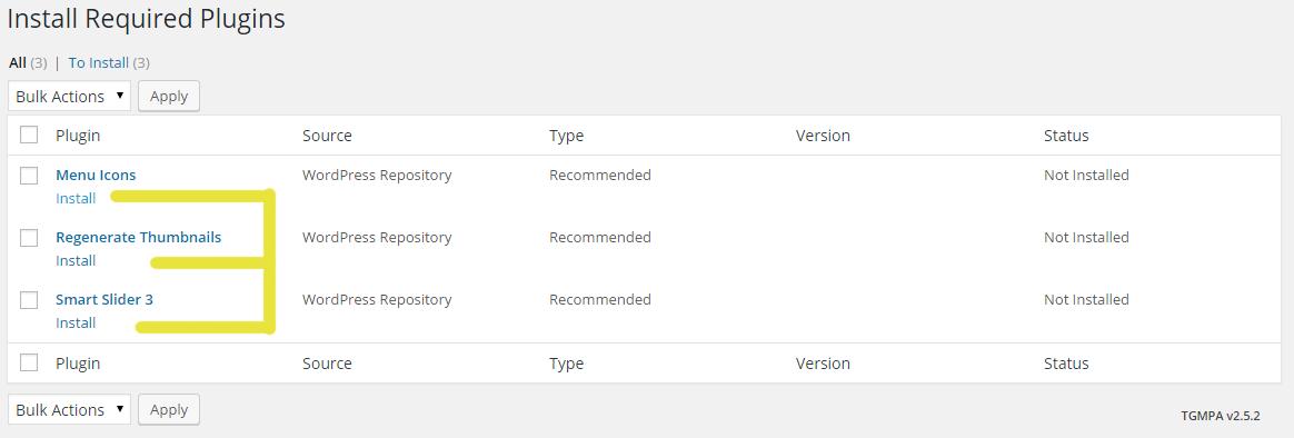 Install Plugins