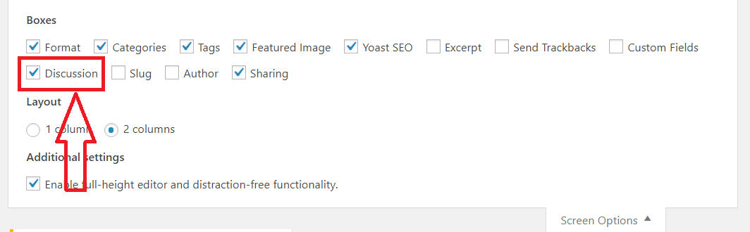 enable or disable comments wordpress